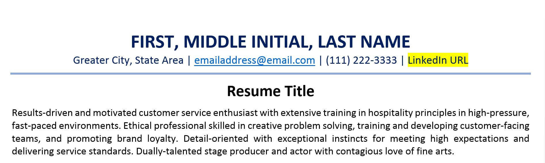 to include linkedin url on your resume examples with example hvac technician search Resume Resume Examples With Linkedin Url