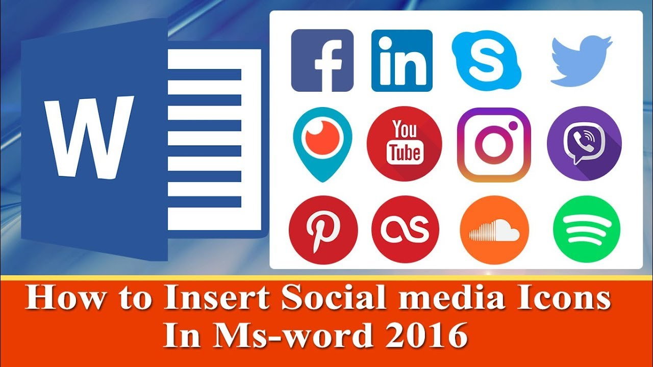 to insert social media icons in resume ms word tutorials linkedin symbol for fonts Resume Linkedin Symbol For Resume
