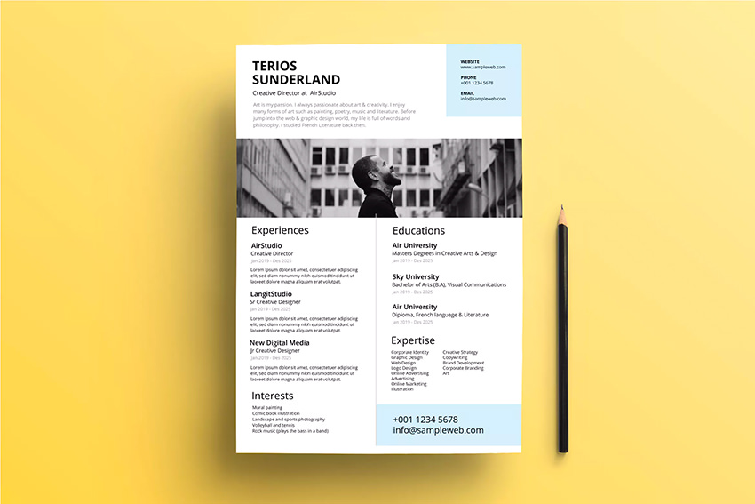 to make creative resume in photoshop quickly with templates for job professional cv clean Resume Resume For Photoshop Job