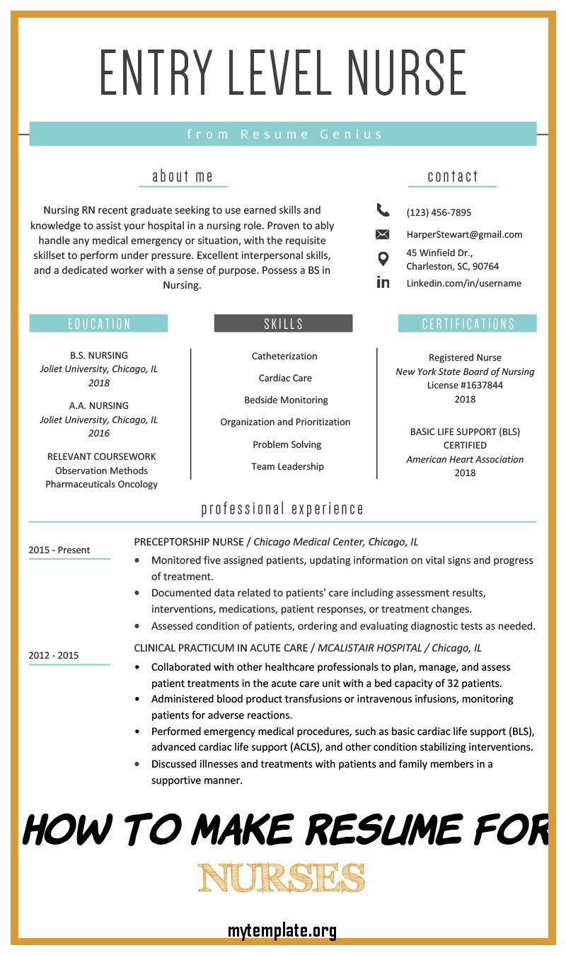 to make resume for nurses free templates entry level nurse sample of pin personal chef Resume Entry Level Nurse Resume Sample