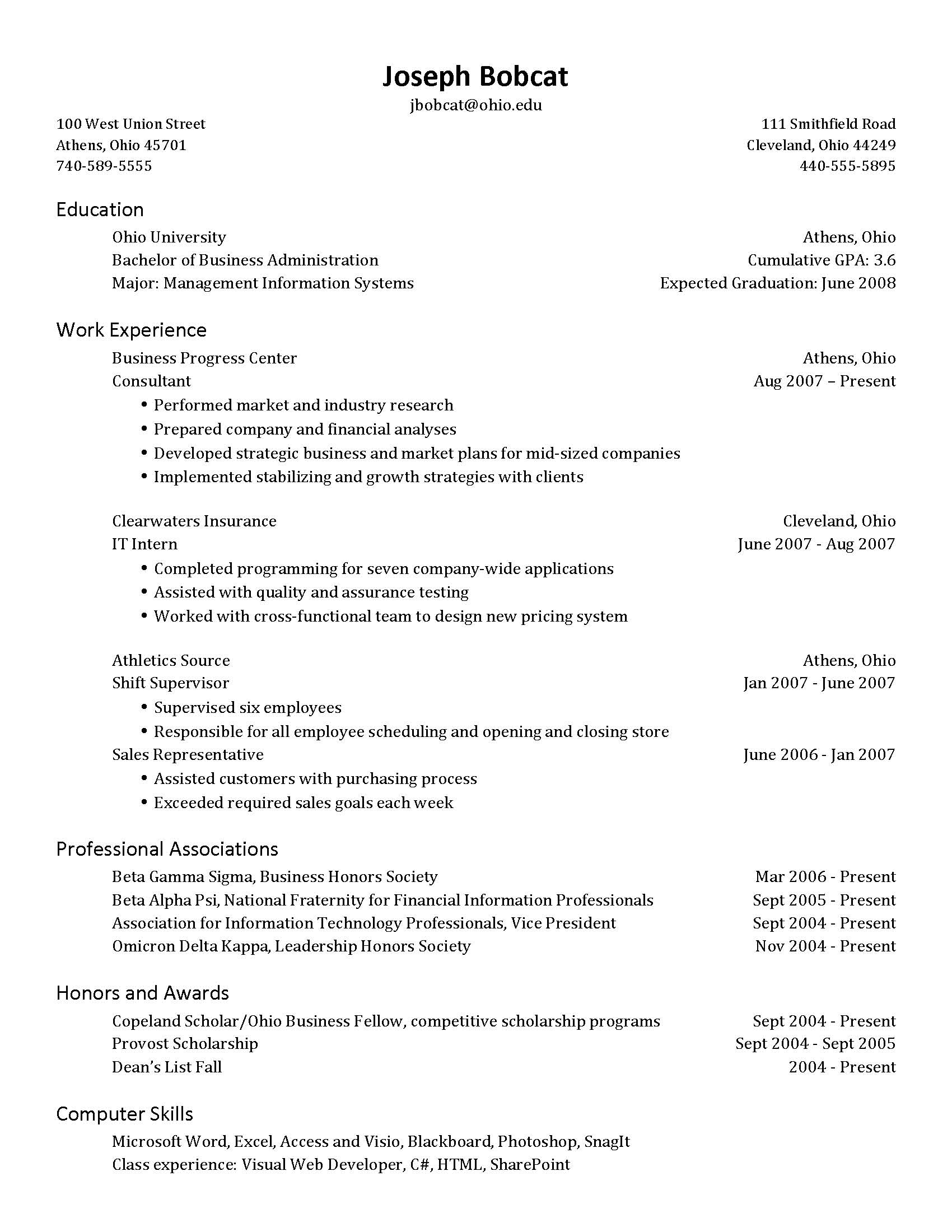 to put anticipated graduation date on resume free examples information technology Resume Anticipated Graduation Date On Resume Examples