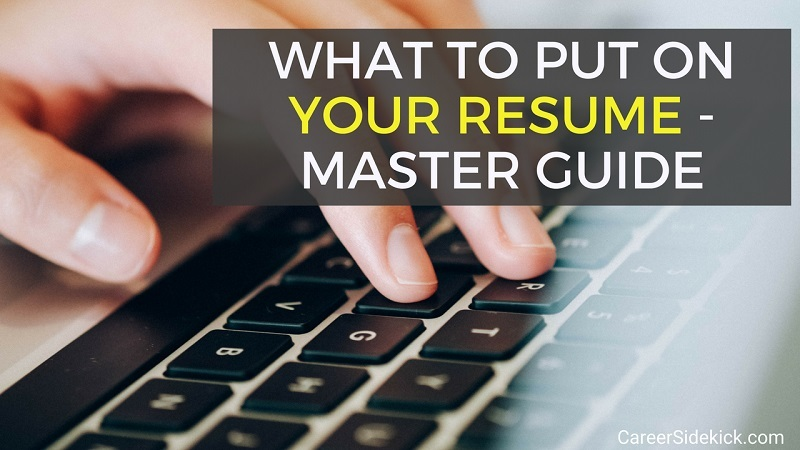 to put on resume things include career sidekick should you your formatting tips creative Resume Should You Put Your Picture On Your Resume 2018