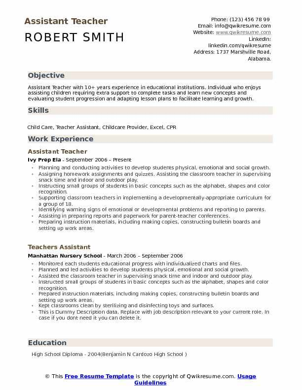 to write an excellent teacher assistant resume objective example3 general for knowledge Resume Teacher Assistant Resume Objective