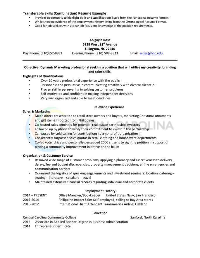 to write combination resume format examples included hloom mdaa and marketing injection Resume Combination Resume Format