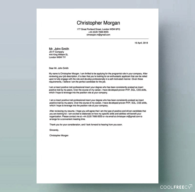 to write cover letter for job examples resume format free example skills college best Resume Resume Cover Letter Format Free Download