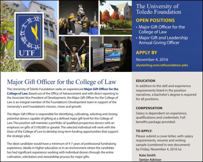 to write gift officer job description must know tips aly philanthropy gifts resume Resume Major Gifts Officer Resume