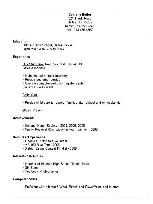 to write high school on resume tips and example job for students examples jobs ideas Resume A Job Resume For High School Students