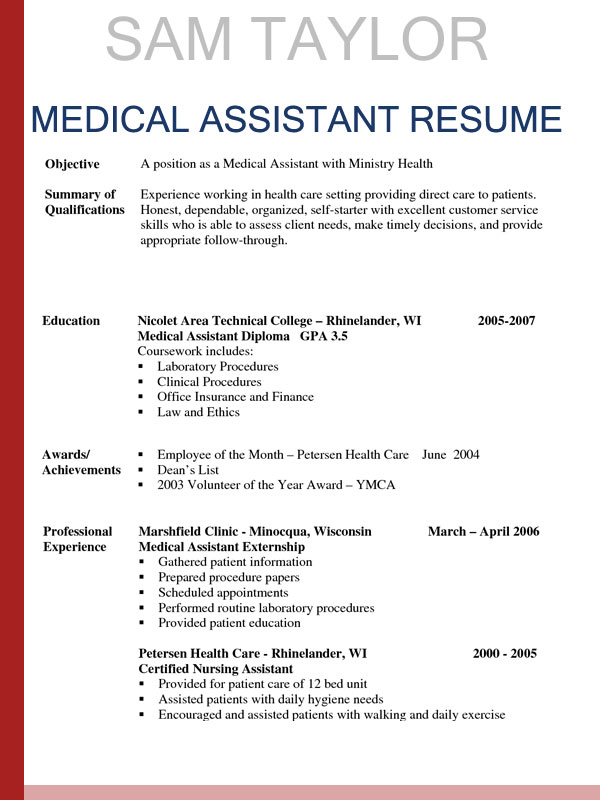 to write medical assistant resume in entry level objective sample hotel revenue manager Resume Entry Level Medical Assistant Resume Objective