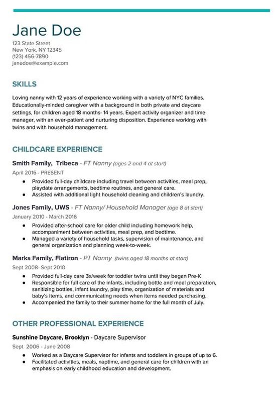 to write nanny resume like champ kith kin agency new city and household staffing Resume Professional Nanny Resume