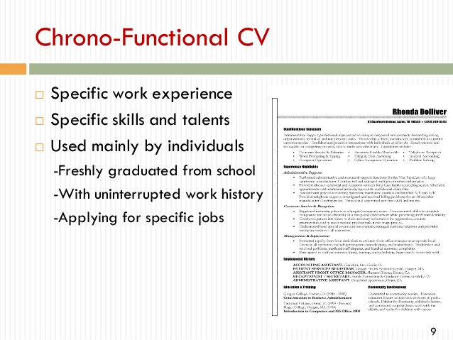 to write professional cv chrono functional resume student services coordinator and cover Resume Chrono Functional Resume