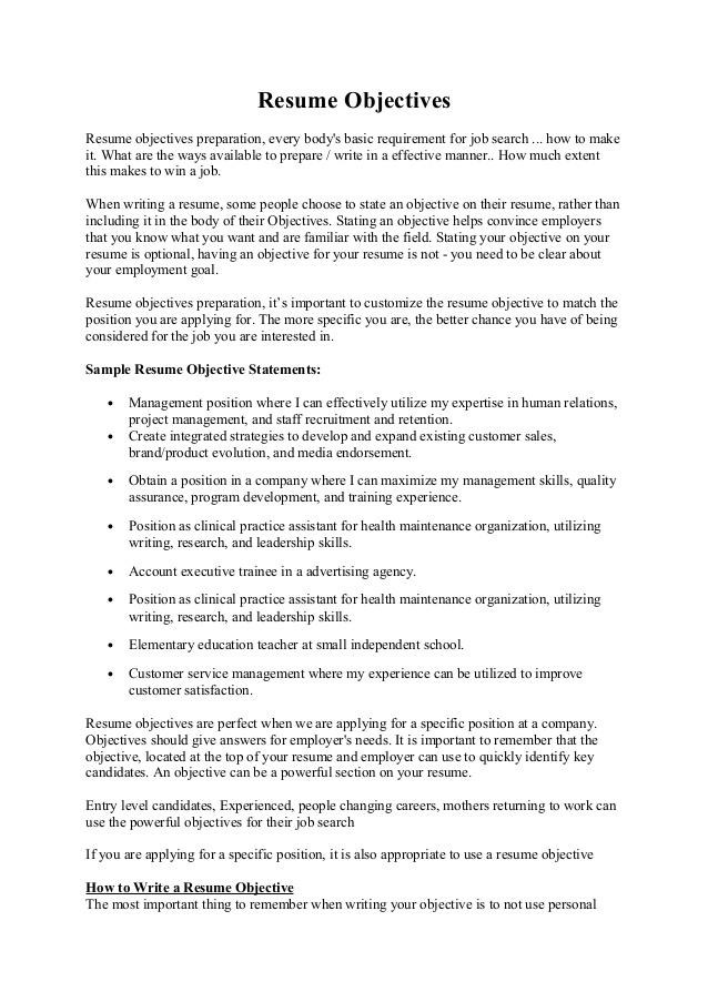 to write resume objective for internship management experienced objectives public policy Resume Resume Objective For Experienced