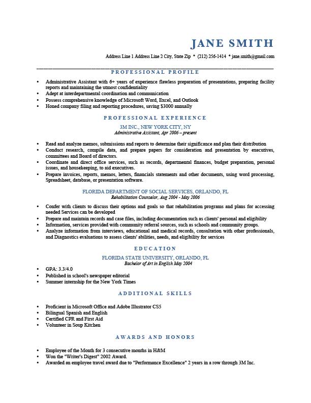 to write resume profile examples writing guide rg portion of blue template chef owner cio Resume Profile Portion Of Resume