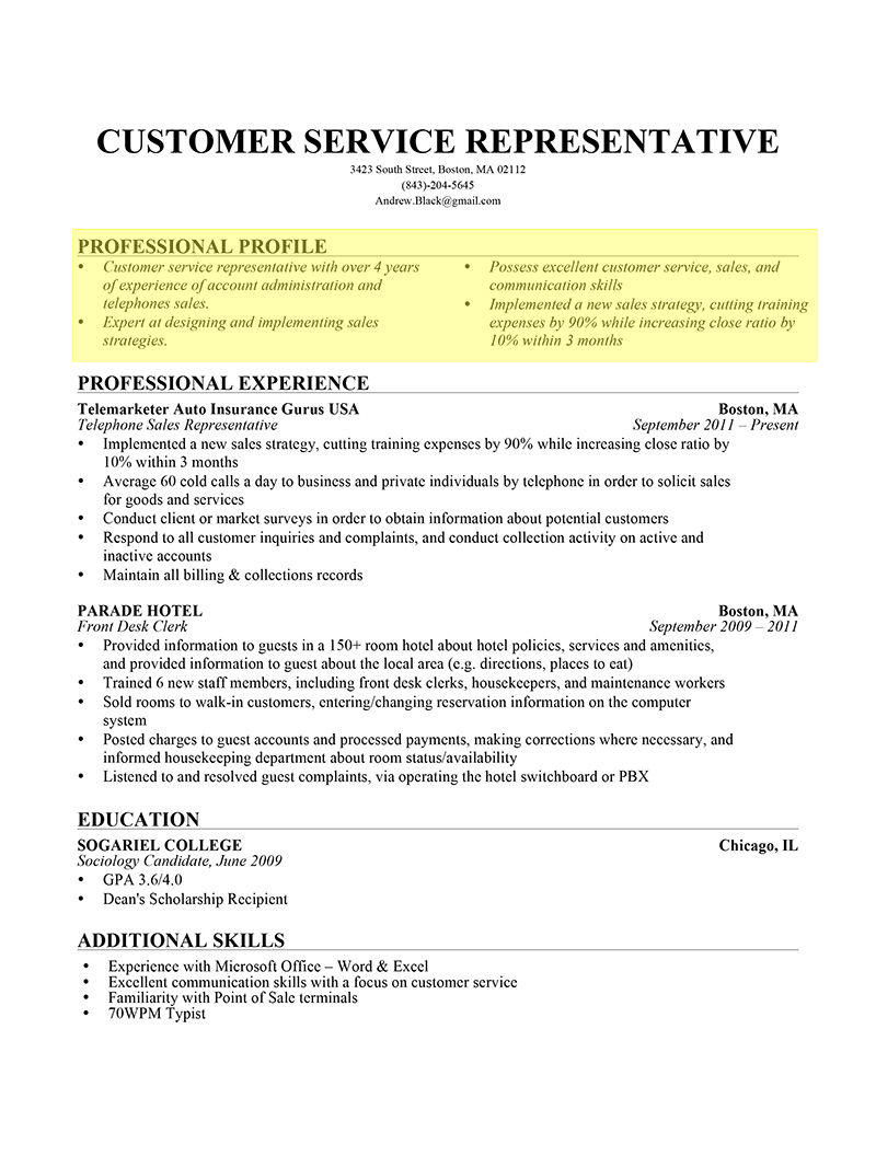 to write resume profile examples writing guide rg portion of professional bullet form1 Resume Profile Portion Of Resume