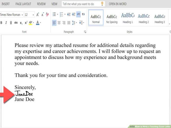 to write teaching cover letter with pictures wikihow body of the for sending resume Resume Body Of The Letter For Sending Resume