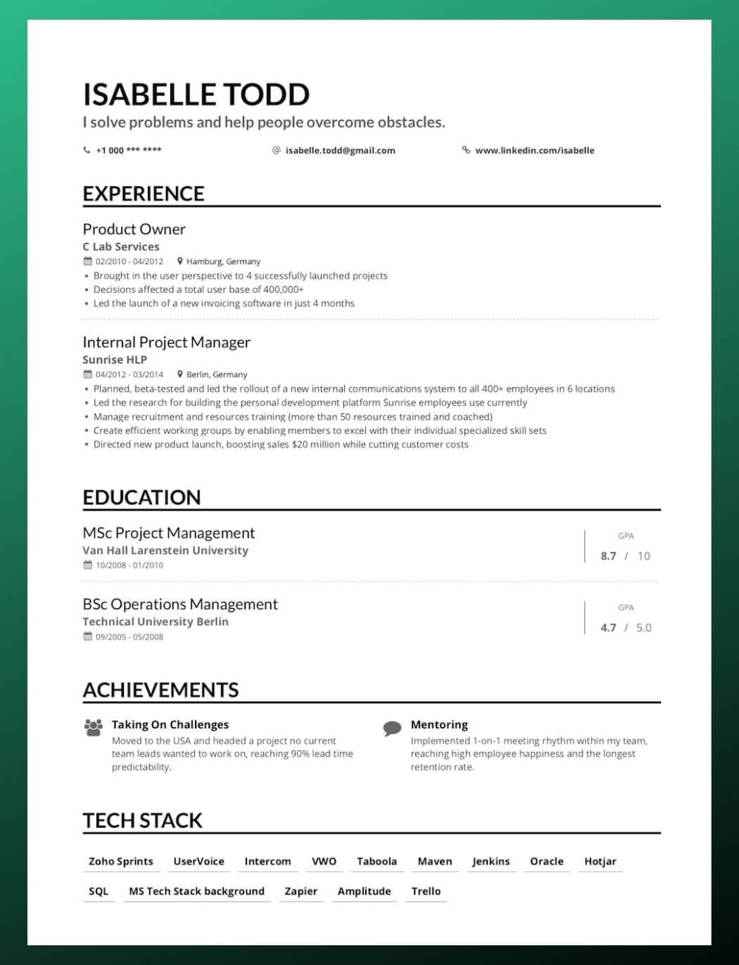 to write your first job resume education or experience on reverse chronological good Resume Education Or Experience First On Resume