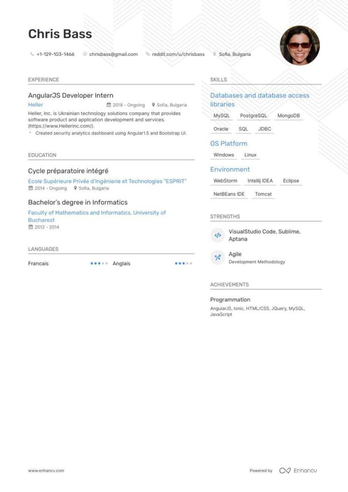 top angularjs resume examples samples for enhancv points cpa software mac computers Resume Angularjs 2 Resume Points