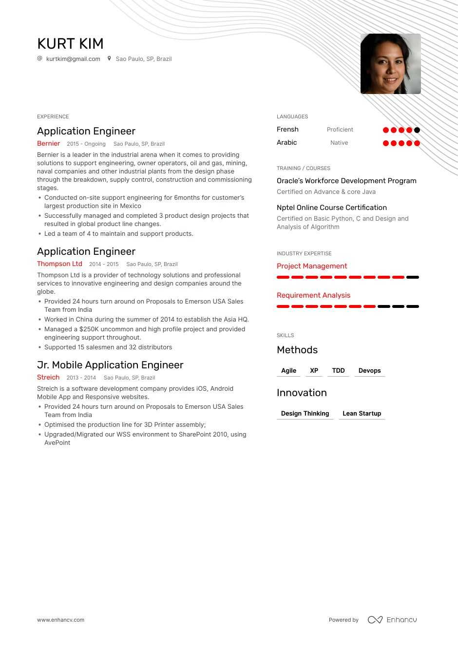 top application engineer resume examples samples for enhancv example simple computer Resume Example Resume Application