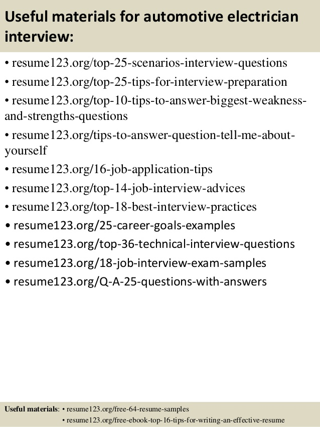 top automotive electrician resume samples auto sample computer software programs for Resume Auto Electrician Resume Sample
