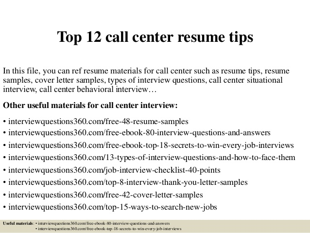 top call center resume tips objective help desk summary first job template rn examples Resume Call Center Resume Objective