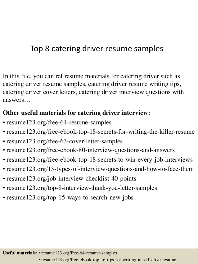 top catering driver resume samples objective sample lsu template commercial producer Resume Driver Resume Objective Sample