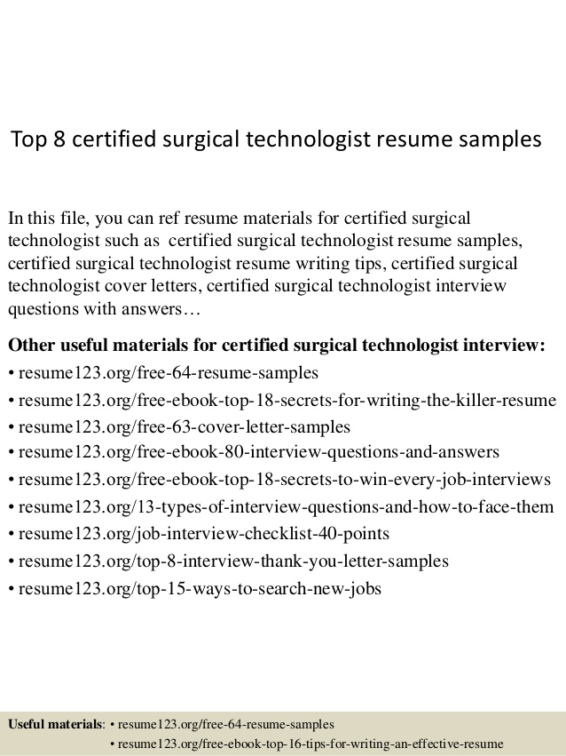 top certified surgical technologist resume samples job simple business administration Resume Certified Surgical Technologist Resume Samples