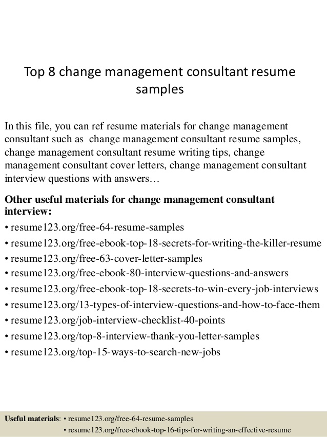 top change management consultant resume samples coaching template tips best professional Resume Change Management Resume