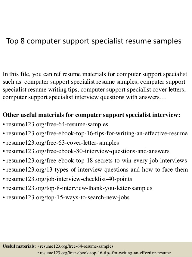 top computer support specialist resume samples examples high potential elementary teacher Resume Computer Support Specialist Resume Examples