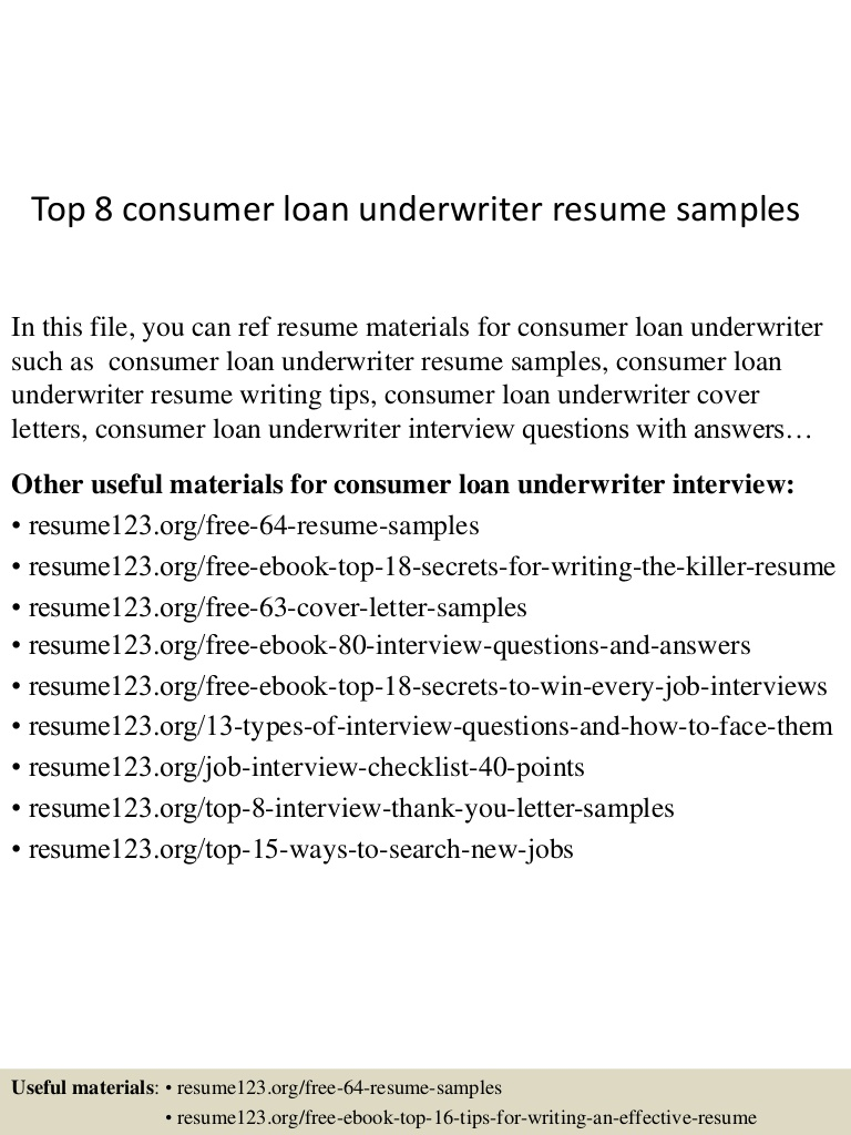 top consumer loan underwriter resume samples mortgage cover letter Resume Mortgage Underwriter Resume Cover Letter