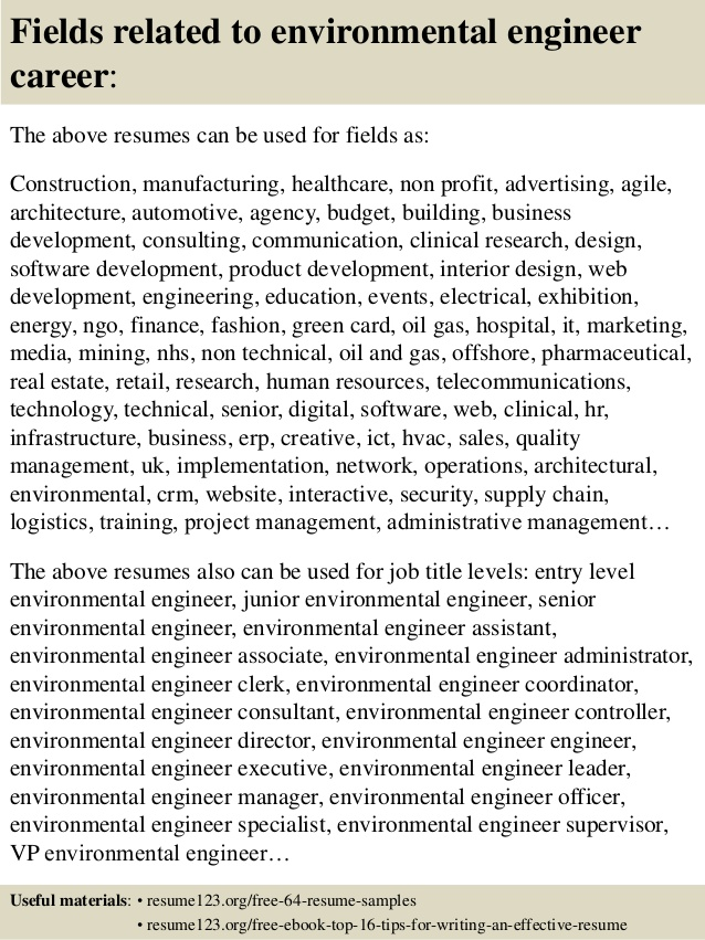 top environmental engineer resume samples for fresher putting references on teaching Resume Resume For Fresher Environmental Engineer
