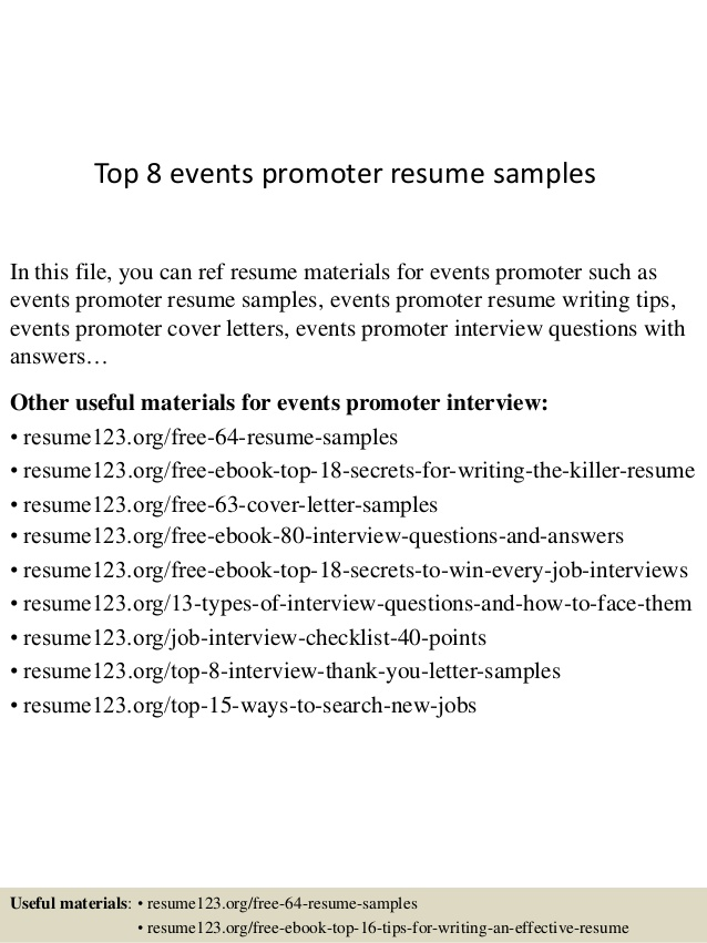 top events promoter resume samples job description for security skills and strengths Resume Promoter Job Description For Resume