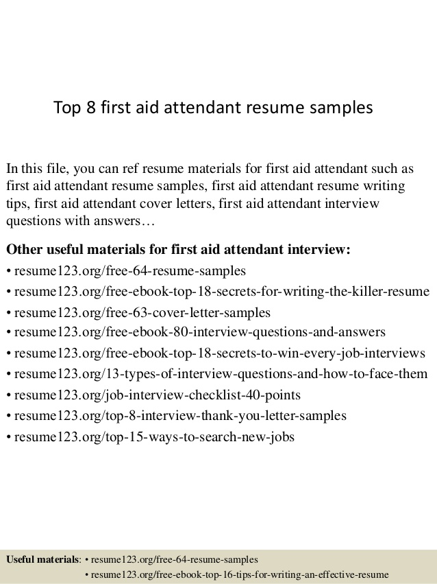 top first aid attendant resume samples sample clothing salesperson substance abuse Resume First Aid Resume Sample