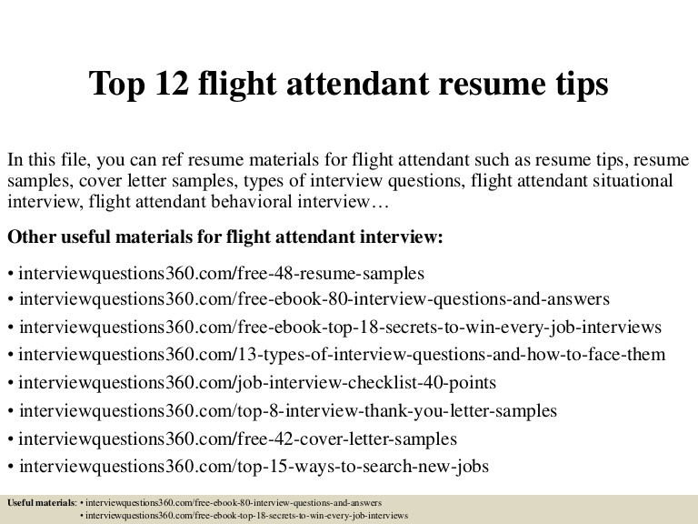 top flight attendant resume tips objective top12flightattendantresumetips conversion Resume Flight Attendant Resume Objective