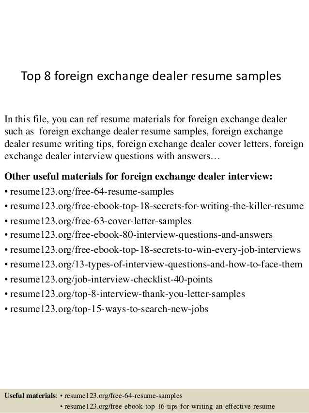 top foreign exchange dealer resume samples consultant writing management experience can Resume Foreign Exchange Consultant Resume