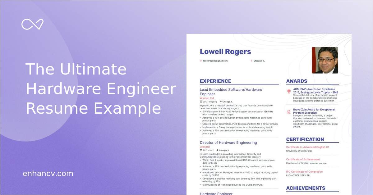 top hardware engineer resume examples samples for enhancv airframe and powerplant follow Resume Hardware Examples For Resume