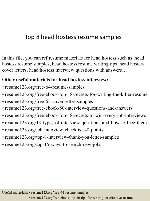 top head hostess resume samples description lpn sample new graduate job for high school Resume Hostess Resume Description
