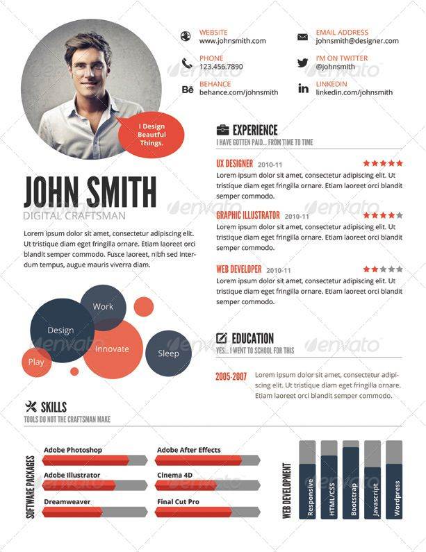 top infographic resume templates visual template simple limousine dispatcher gas station Resume Simple Infographic Resume Template