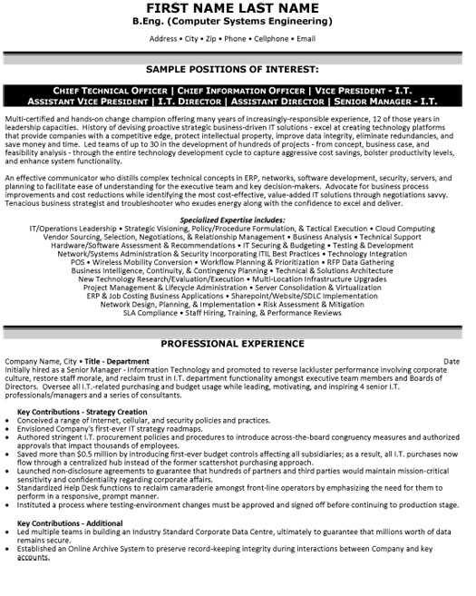 top information technology resume templates samples examples it cto cio vp director Resume Information Technology Resume Examples 2019