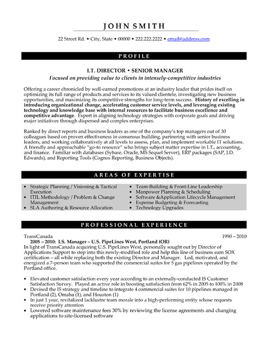 top information technology resume templates samples examples it executive director senior Resume Information Technology Resume Examples 2019