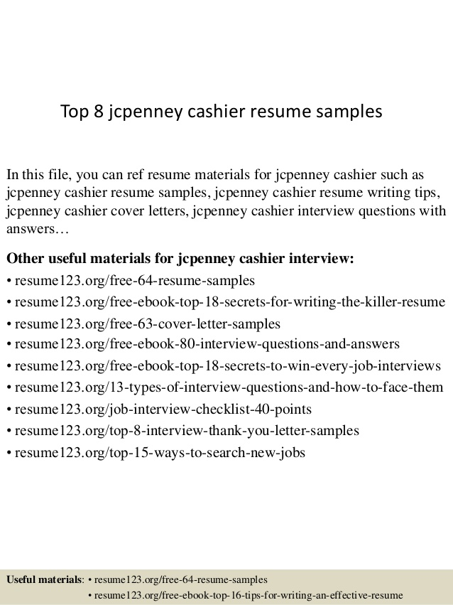 top jcpenney cashier resume samples examples personal statement for job housekeeping Resume Jcpenney Resume Examples