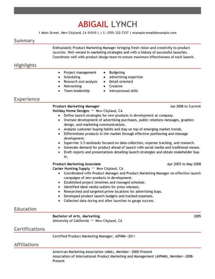 top mba resume samples examples for professionals livecareer best product marketer Resume Best Mba Resume Examples