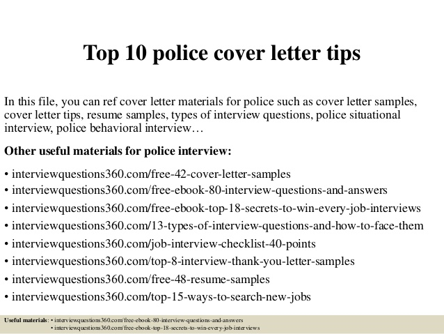 top police cover letter tips resume warehouse executive of intent sample format for Resume Police Resume Cover Letter