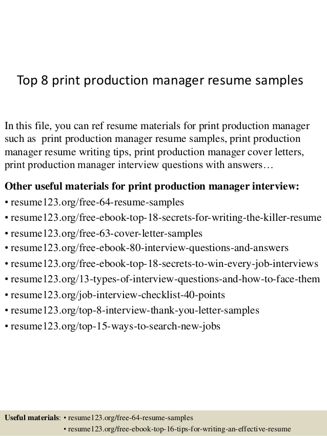 top print production manager resume samples examples objective for teachers indeed edit Resume Print Production Resume Examples