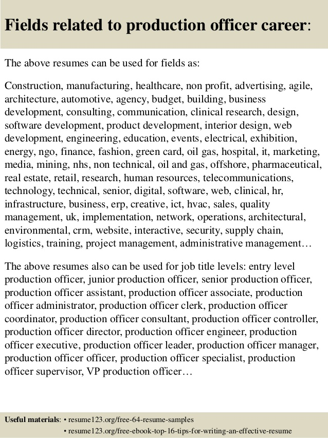 top production officer resume samples sample without microsoft word busser job Resume Production Officer Resume Sample