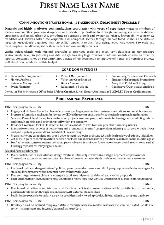 top public relations resume templates samples pr communications professional stakeholder Resume Public Relations Resume