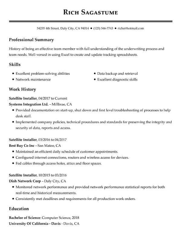 top resume objectives examples myperfectresume summary format for customer service Resume Summary Format For Resume