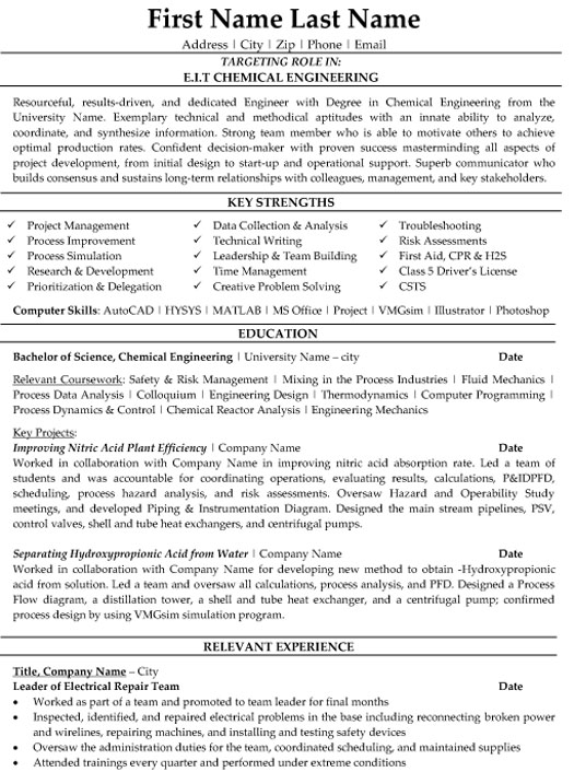 top scientist resume templates samples for chemical industry eit engineering sample Resume Resume For Chemical Industry