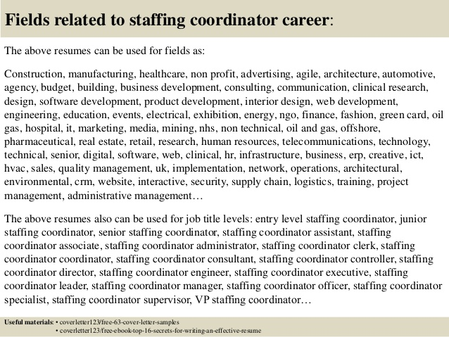 top staffing coordinator cover letter samples resume revenue cycle director activity aide Resume Staffing Coordinator Resume Cover Letter