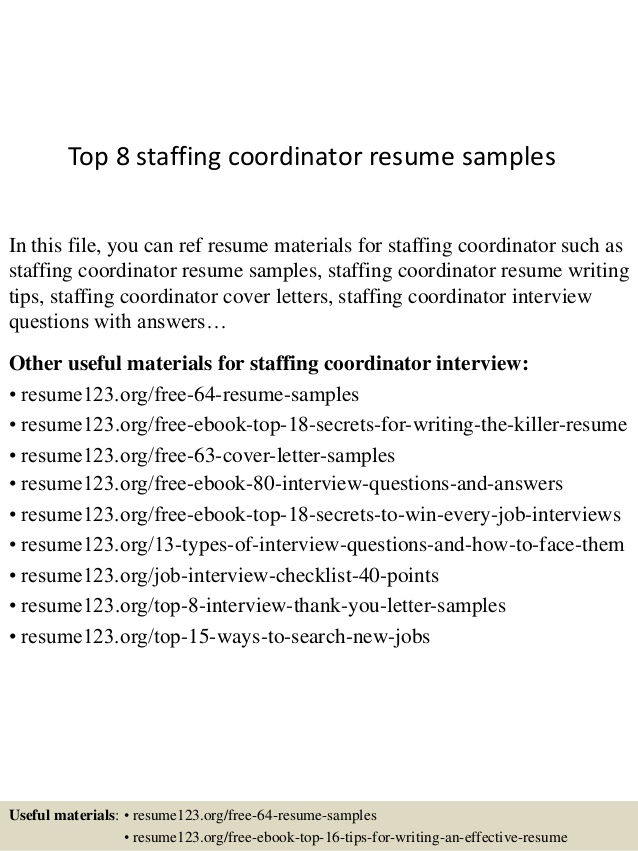 top staffing coordinator resume samples cover letter content writer revenue cycle Resume Staffing Coordinator Resume Cover Letter