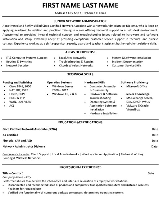 top student resume templates samples best for students junior network administrator Resume Best Resume Templates For Students