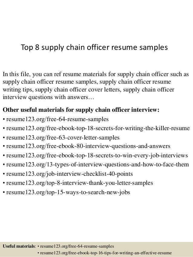 top supply chain officer resume samples examples best layout star developed synonym email Resume Supply Chain Resume Examples